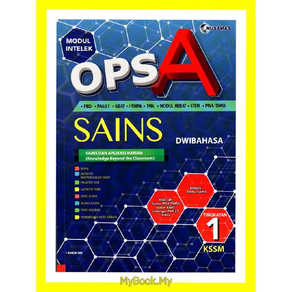Myb Buku Latihan Modul Intelek Ops A Kssm Tingkatan 1 Sains Science Dwibahas Shopee Singapore