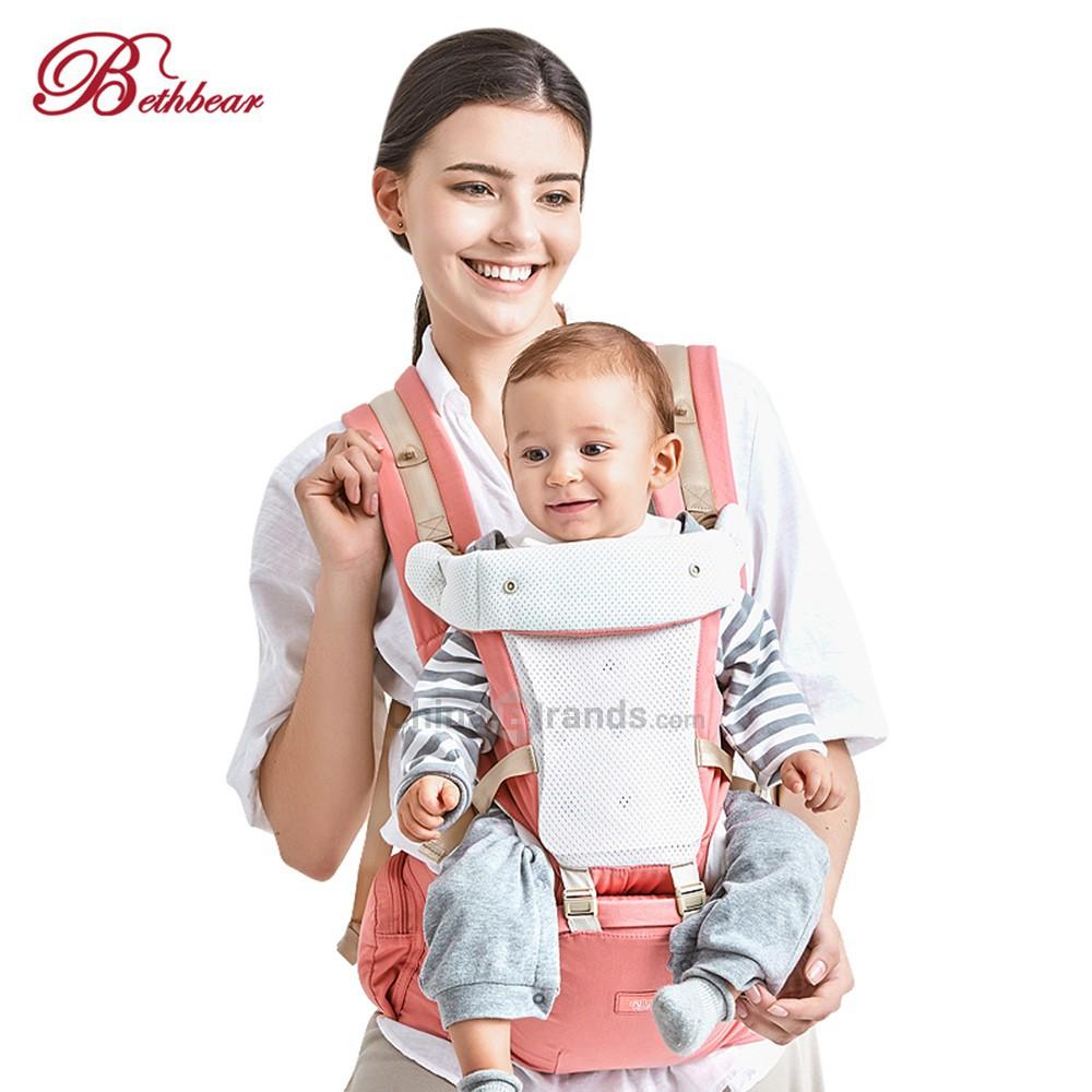 b6727f0c7de Bethbear Hipseat Newborn 4 in 1 Ergonomic Baby Carrier Kid Sling Backpack