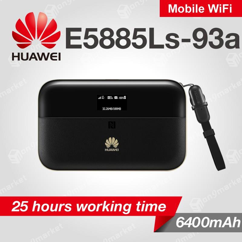 Huawei E5885 E5885Ls-93a Mobile WiFi Pro 2 4G CAT6 300Mbps 6400mAh RJ45  Travel Mifi English Version
