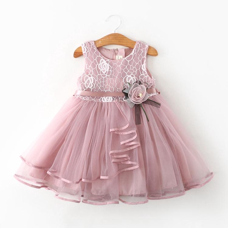 2018 Summer Girls Sofia The First Princess Sleeveless Party Birthday Dress O42