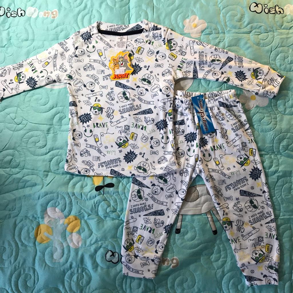 LIKESIDE Toddler Infant Baby Girls Boys Cartoon Printing Long Sleeve Tops Blouse