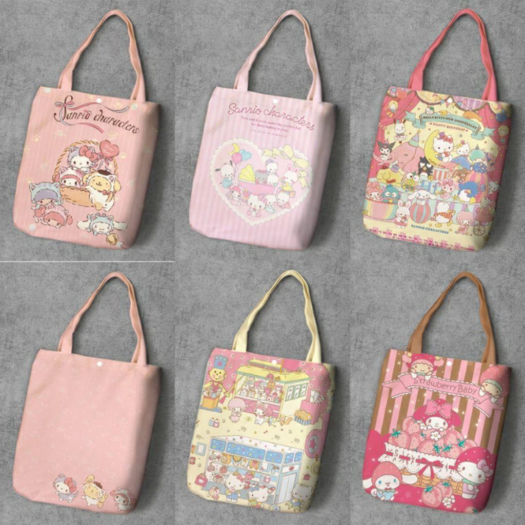 My Melody Pompompurin Badtz Hello Kitty Sanrio Friends Tote Bag Style #2