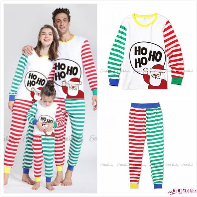 f7ff3027a0 LOO-Family Matching Christmas Pajamas PJs Sets Xmas Sleepwear Nightwear