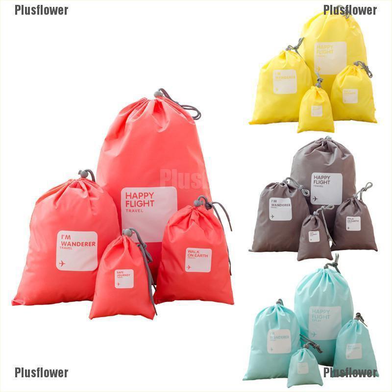 12414957ba7c Plusflower 4pcs/set Travel Shoe Laundry Bag Household Waterproof Pouch  Storage Bags