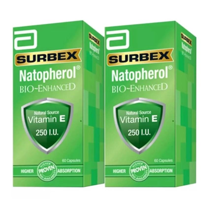 ABBOTT Surbex Natopherol Vitamin E 250 IU (60s x 2)
