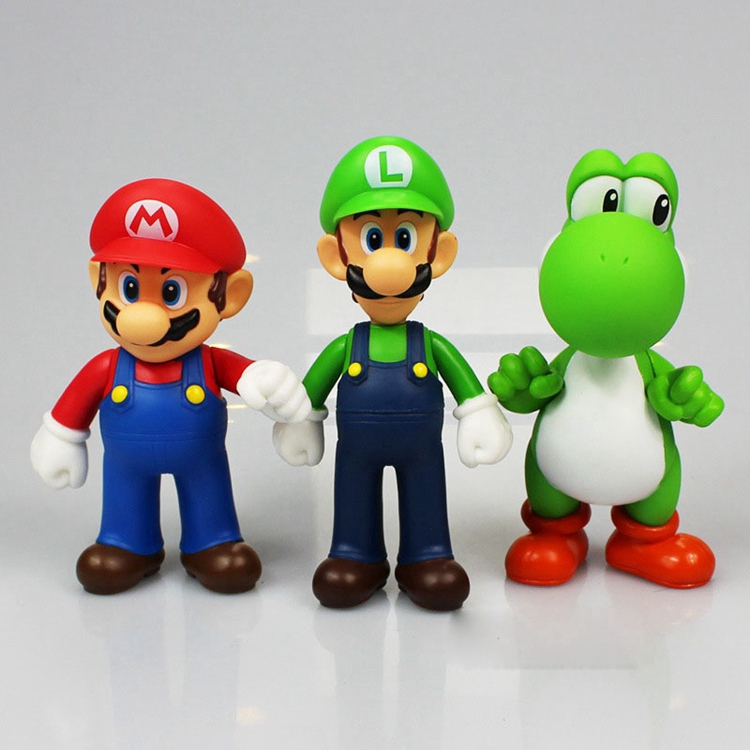 Toys & Hobbies 13cm Super Mario Bro Luigi Fire Mario Action Figure Toy Dolls 3 Styles Special Buy