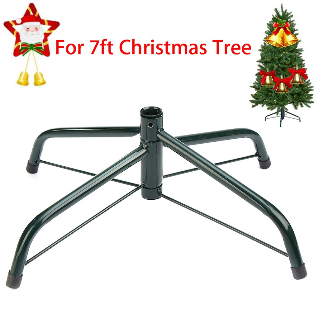 Artificial Christmas Tree Stand.7ft Artificial Christmas Tree Stand Holder Base Iron Stand Holiday Home Decor