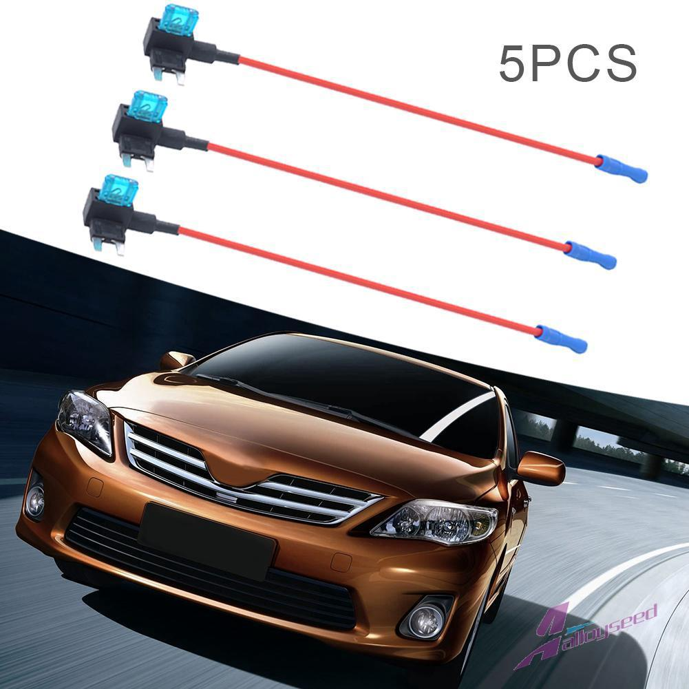 al**5x Small Size Car Fuse Holder Add-a-circuit TAP Adapter with on