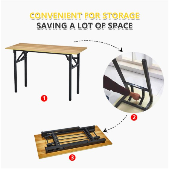 Compact Foldable Table Office Study Writing Reading Folding Foldable Table Desk