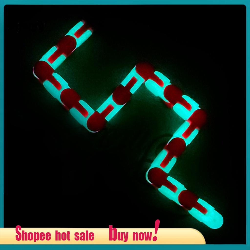 Dijonfg.my Portable Snake Fidget Wacky Tracks Snake Puzzle Fidget Toys Flexible for Children