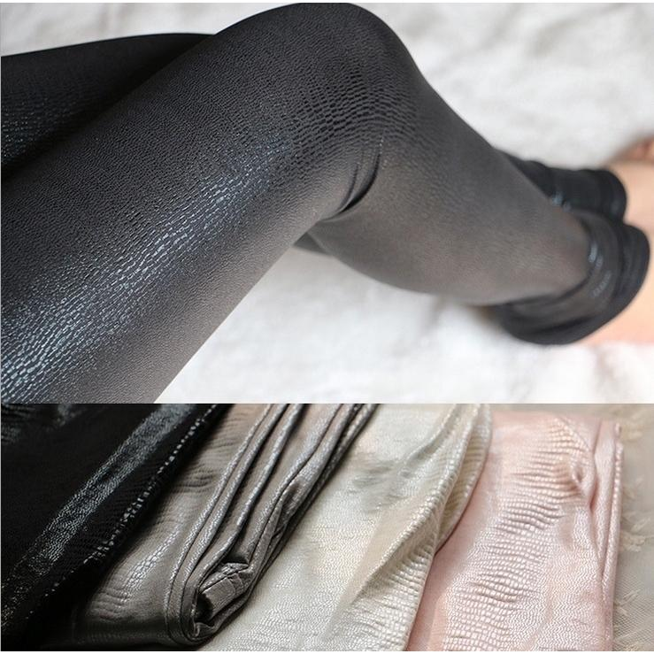 cheap for discount aesthetic appearance latest trends of 2019 3Color Thick Snake Skin Glossy Leather Wet Look Leggings ...