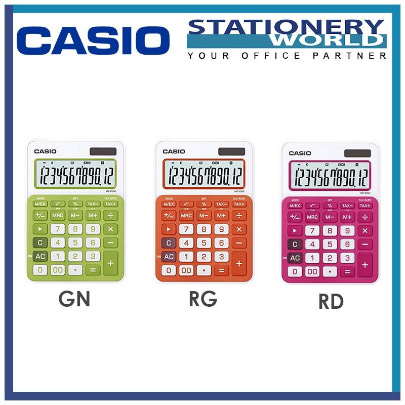 Casio Calculator 12 Digits MS-20NC