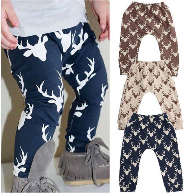 US Toddler Kid Baby Boys Girl Cotton Harem Pants Trousers PP Leggings Sweatpants