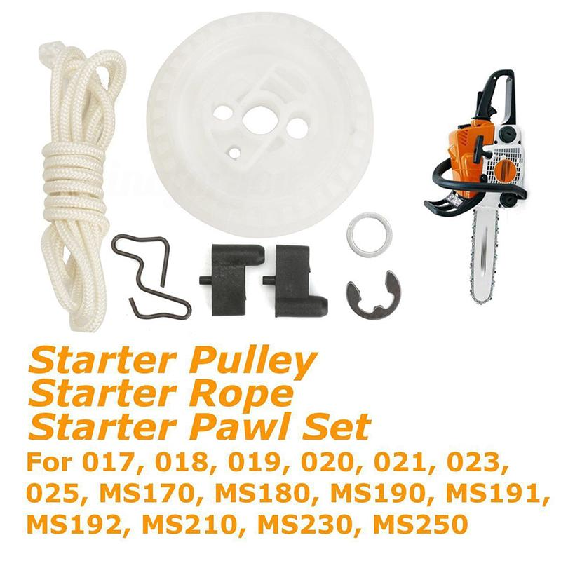 Recoil Starter Rope Pulley & Pawl Kit for Stihl 021 023 025