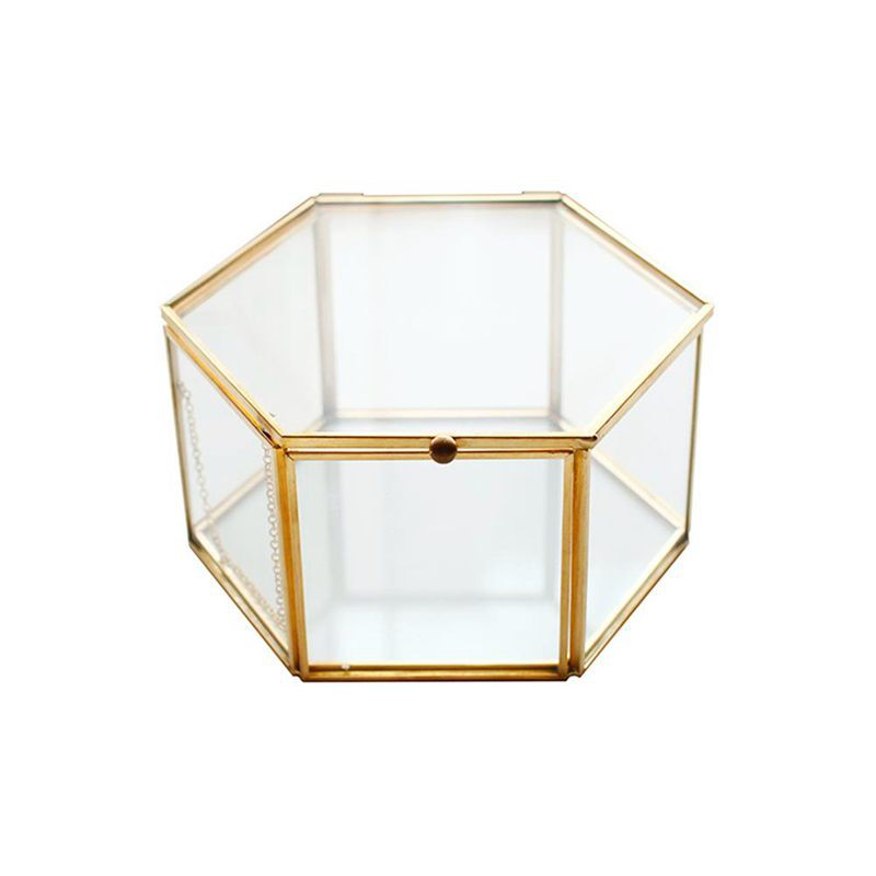 Geometric Clear Gl Jewelry Box