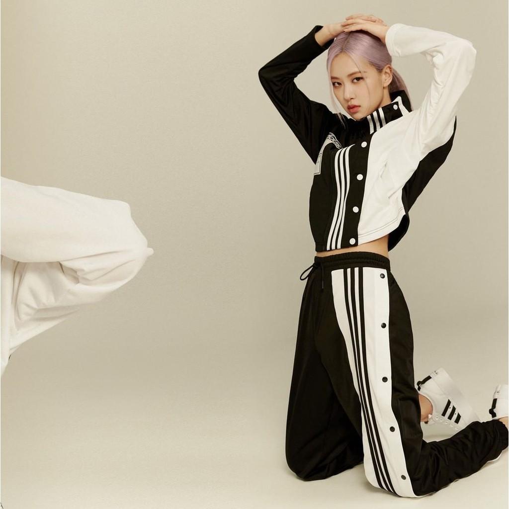 canto agenda Vinagre  R - Man Blackpink X Adidas Adibreak Rose Coat Skinny Pants Gj6580 Gj6561 |  Shopee Singapore