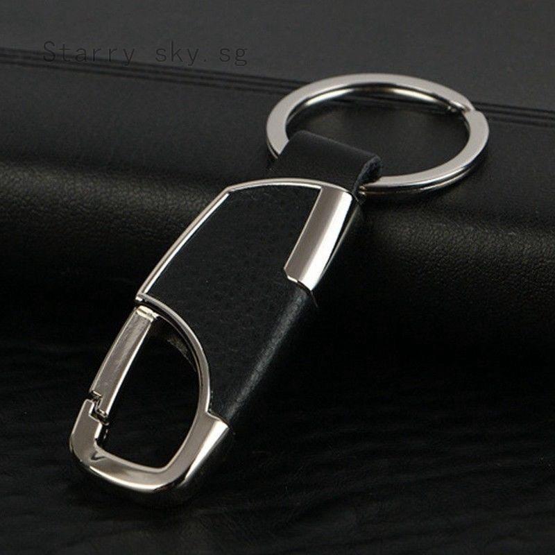 Men`s Creative Metal Leather Key Chain Ring Keyfob Car Truck Keyring Keychain
