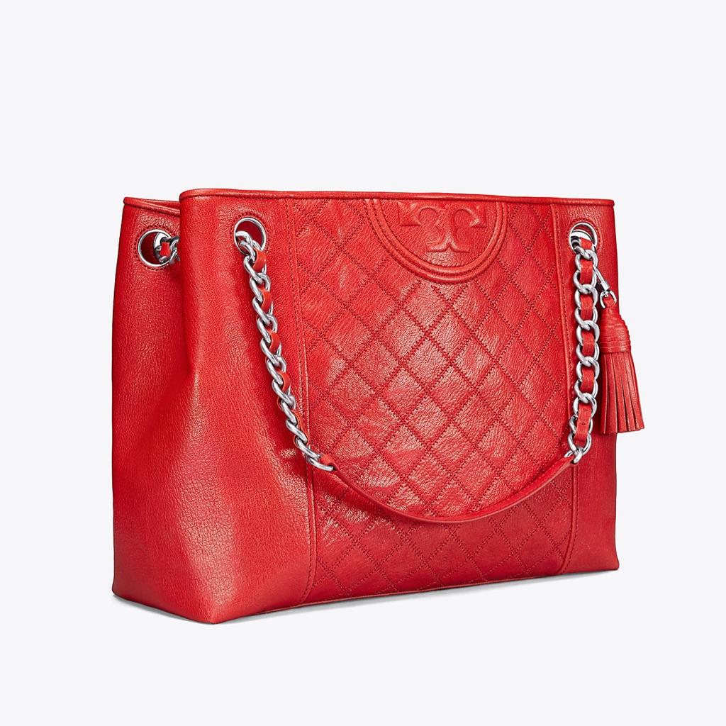93dfb78267147 Tory Burch Fleming Small Convertible Shoulder Bag Bright Azalea ...