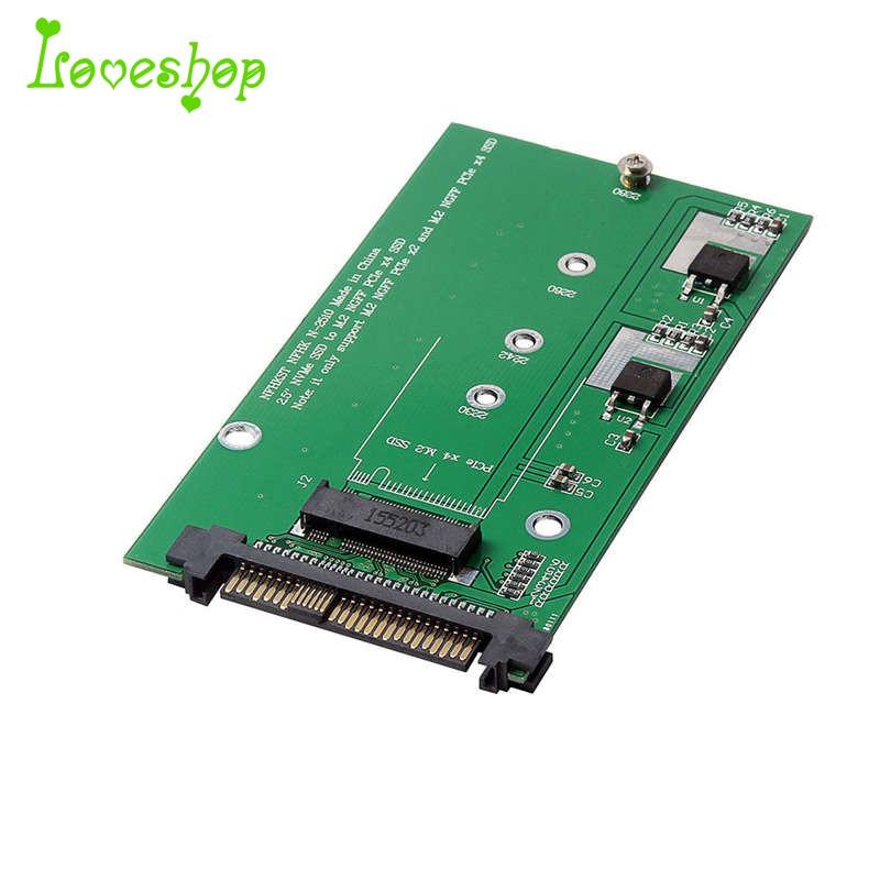 U 2/Sff-8639 Nvme Pci-E Ssd To M 2 Ngff M Key Ssd Converter Adapter Card