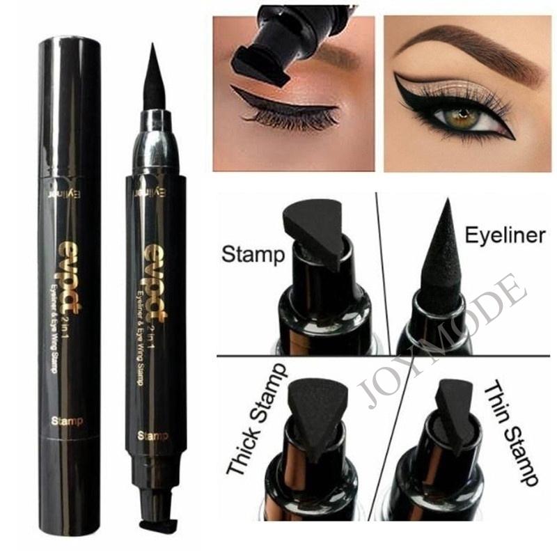 06a733d07bf0 JOYMODE Cat Eye Makeup Winged Stamp Double Head Waterproof Eyeliner