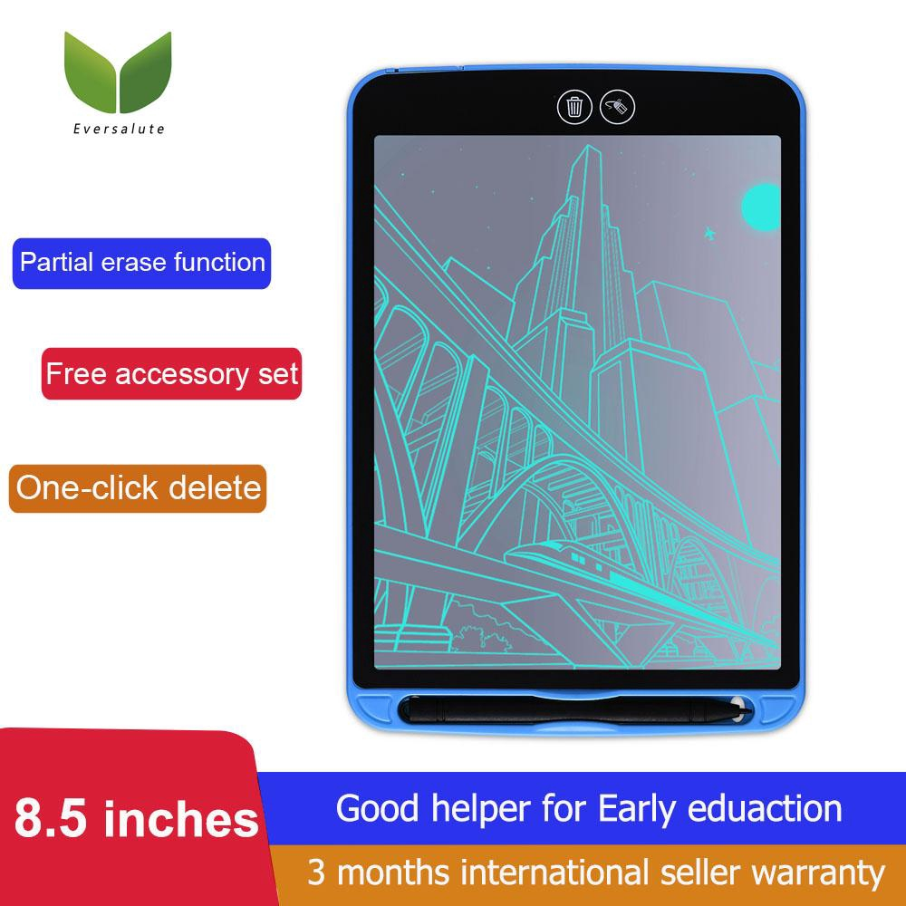 LCD Writing Tablet 3 Pcs 8.5 Inch LCD Smart Drawing Electronic Tablet with Key Lock Screen to Clear Graffiti Painting Board Color : Blue, Size : 8.5 inches