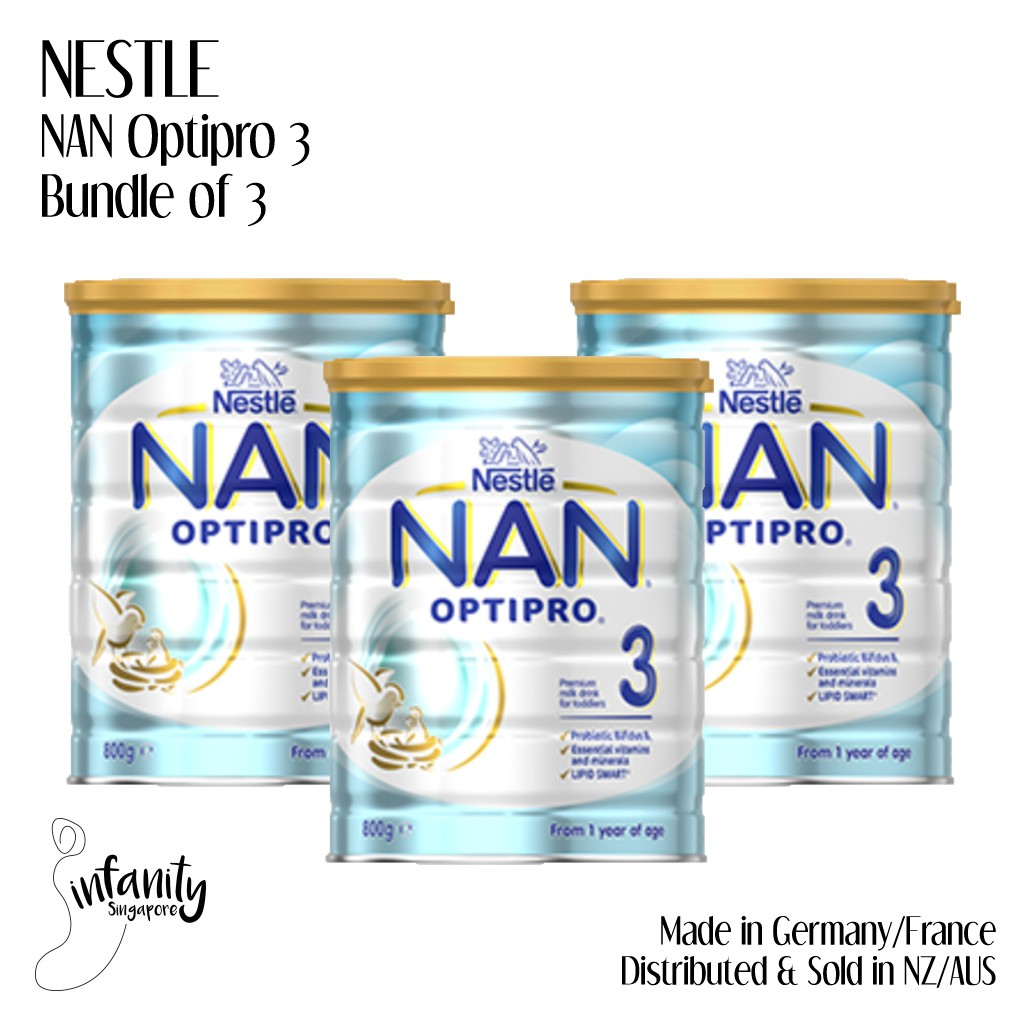 [Bundle of 3] Nestle NAN Optipro Stage 3 / Formula Milk / Made in France