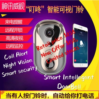 Smart DOORBELL wireless with no Battery requred | Shopee