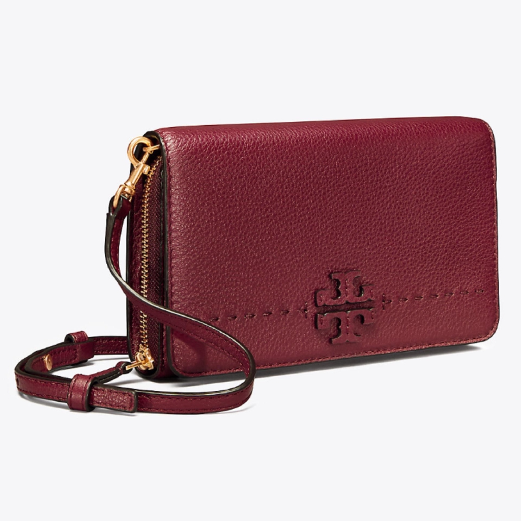 e377c0377be TORY BURCH MCGRAW MIXED SUEDE SHOULDER BAG (SILVER MAPLE)