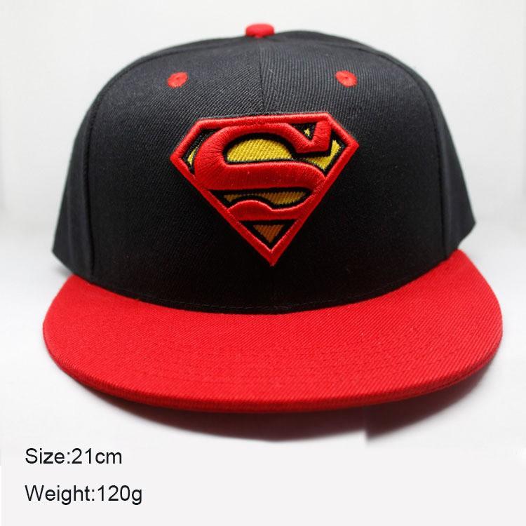 f9f9187db63f3 Mens Black Red Dc Comics Superman Baseball Cap Hat Flat Peak Snapback Snap  Back