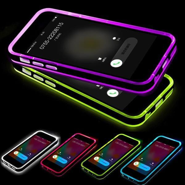 New LED Flash Ultra Thin Back Cover Call Lighting TPU Case for