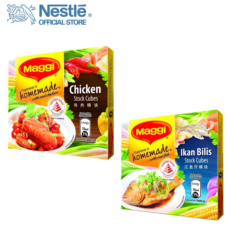 MAGGI Stock Cubes 60G Healthier Choice Choose any 2 (Chicken/Ikan Bilis)