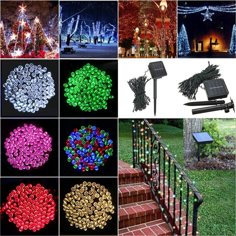 100 LED 10M Christmas Tree Fairy Party Lights Xmax Waterproof Color Lot