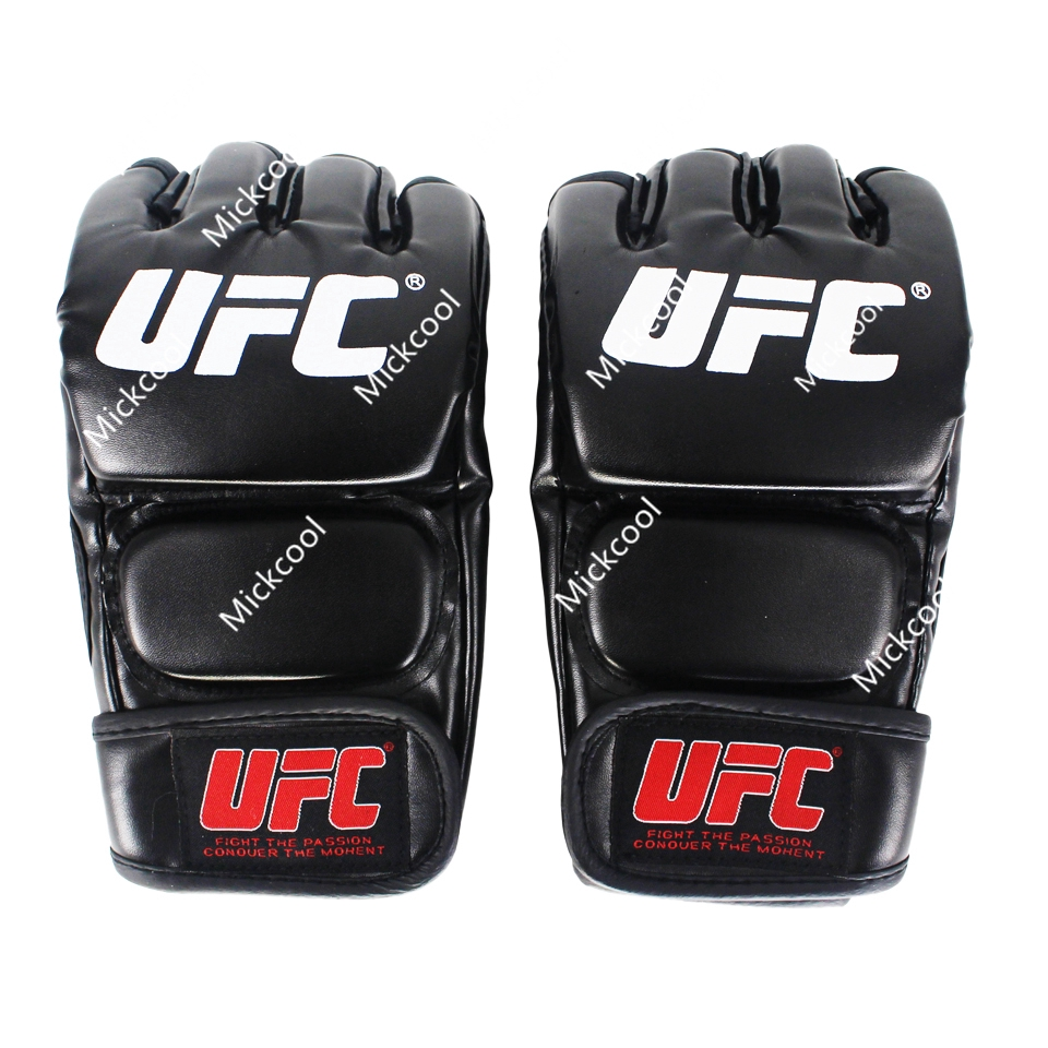 Black Fighting MMA Boxing Sports Leather Gloves Tiger Muay Thai fight box