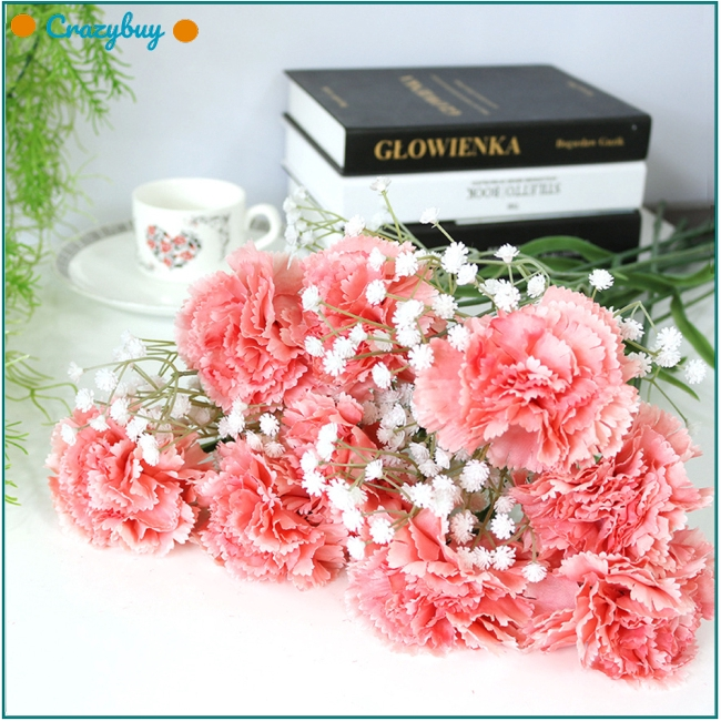 Artificial Carnation Flower For Home Wedding Party Decoration Shopee Singapore