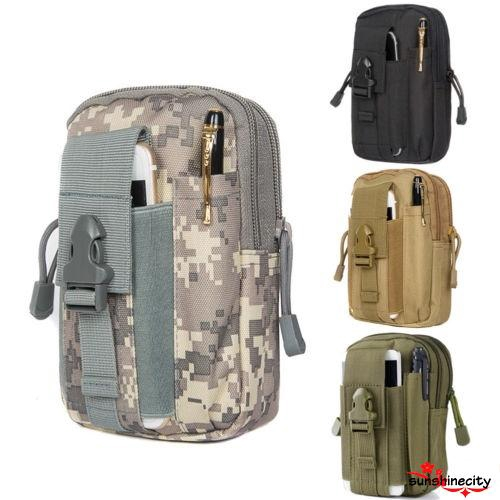 Tactical Molle Pouch Handbags Belt Waist Backpack Military Fanny Bag