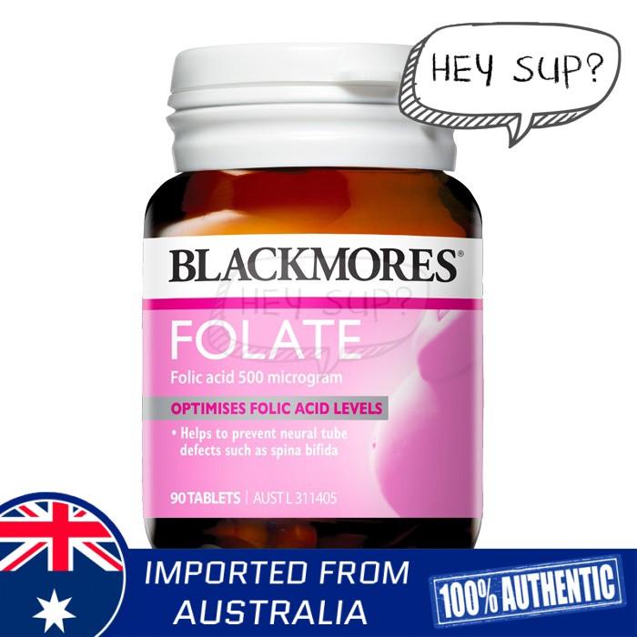 Blackmores Folate 500mcg 90 Tablets (Optimises Folic Acid Levels)