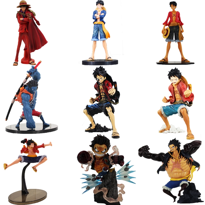 One Piece Luffy Figure Toy Monkey D Luffy Gear 4th Haki Scultures Big Nightmare
