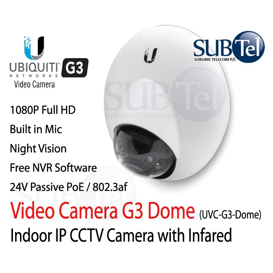 Ubiquiti UVC-G3-Dome Unifi Video Camera Full HD IP CCTV UBNT 1080p