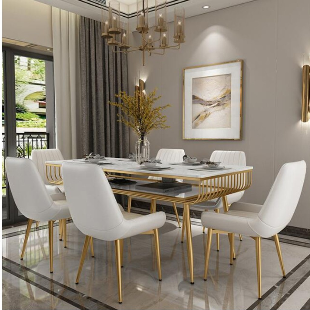 TMDT 9 Two Tiers Marble Dining Table
