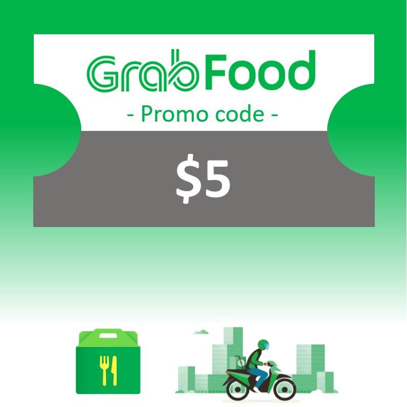 GrabFood SGD5 promo code - Instant Delivery