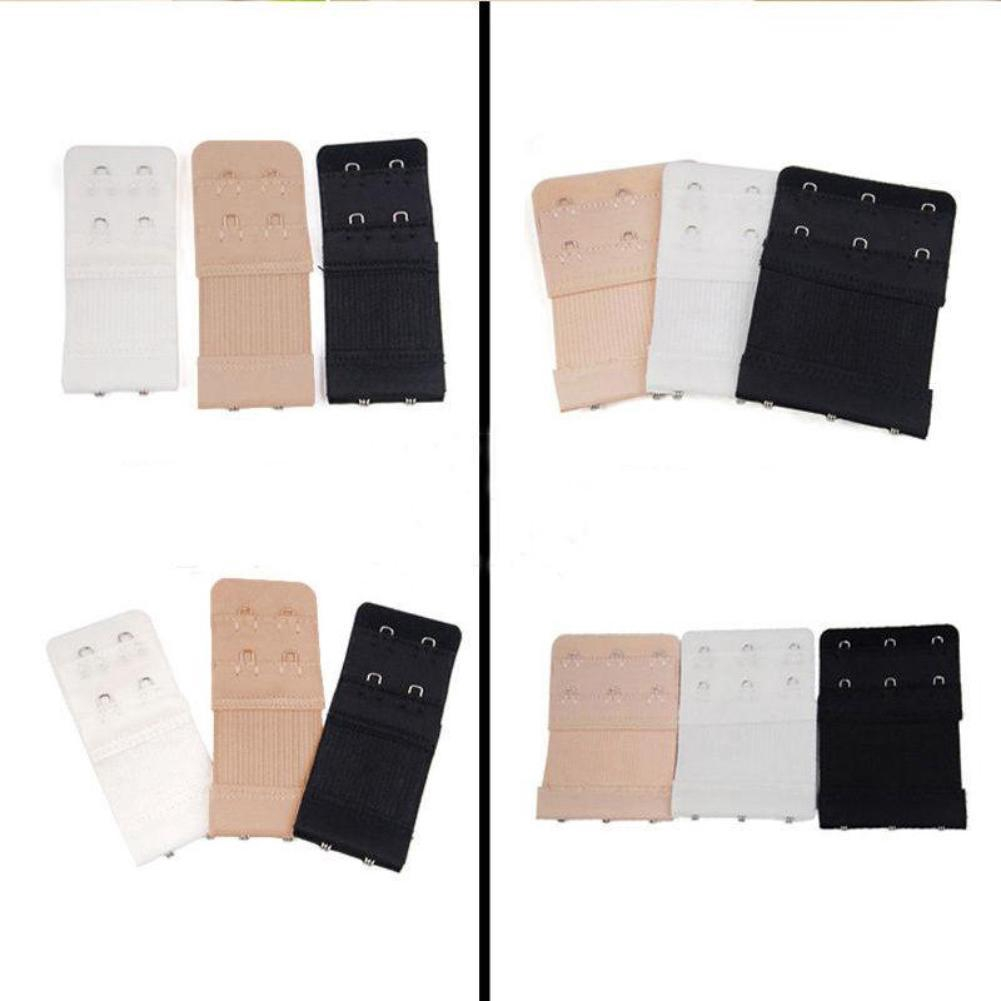 New 3pcs White Colour 2 Hooks Ladies Bra Extender Strap Underwear Strapless