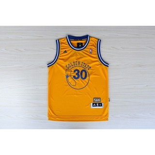 competitive price 9109c ddbe5 NBA Basketball Jersey Warriors 30th Curry Retro Yellow New ...