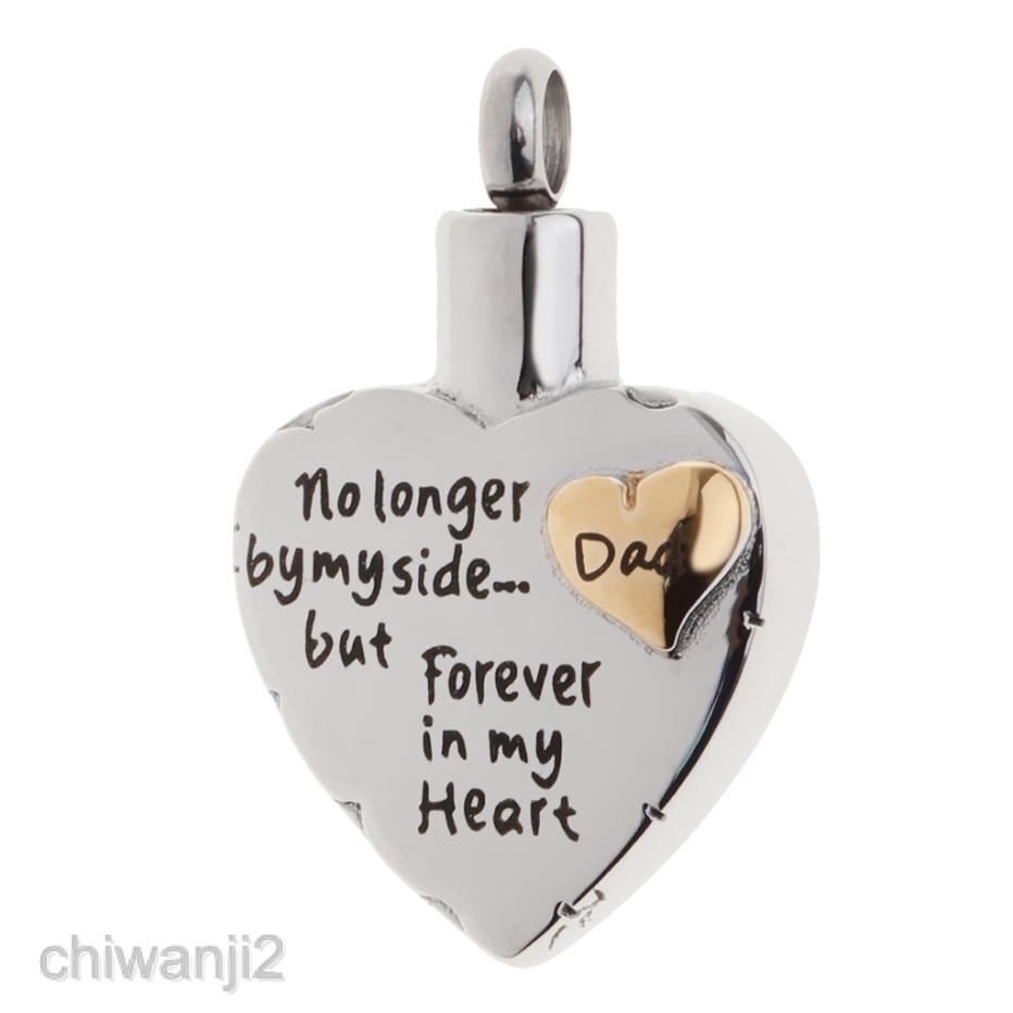 Heart Loop Urn Pendant Memorial Ashes Keepsake Forever in My Heart Pendant Charm