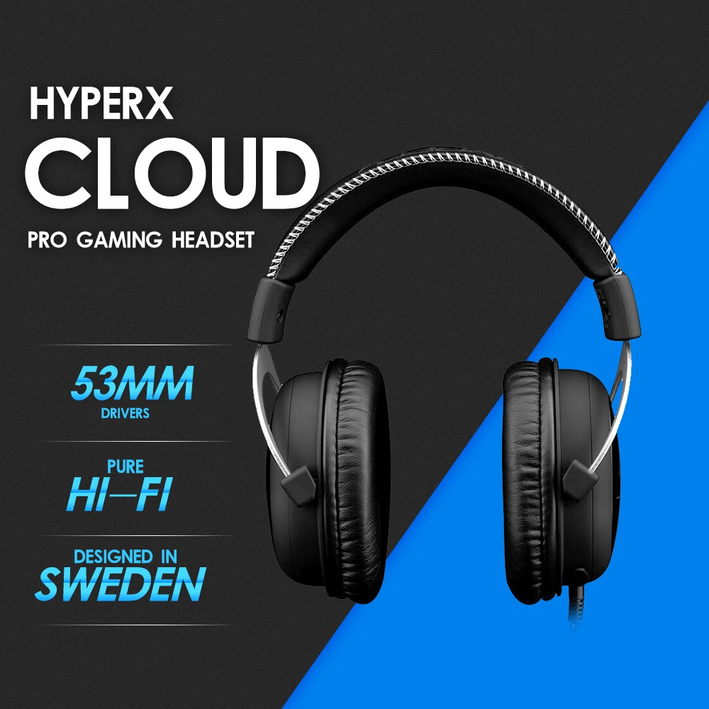 New Kingston HyperX Cloud Sliver Professional Esport Gaming Stereo Headset  Noise