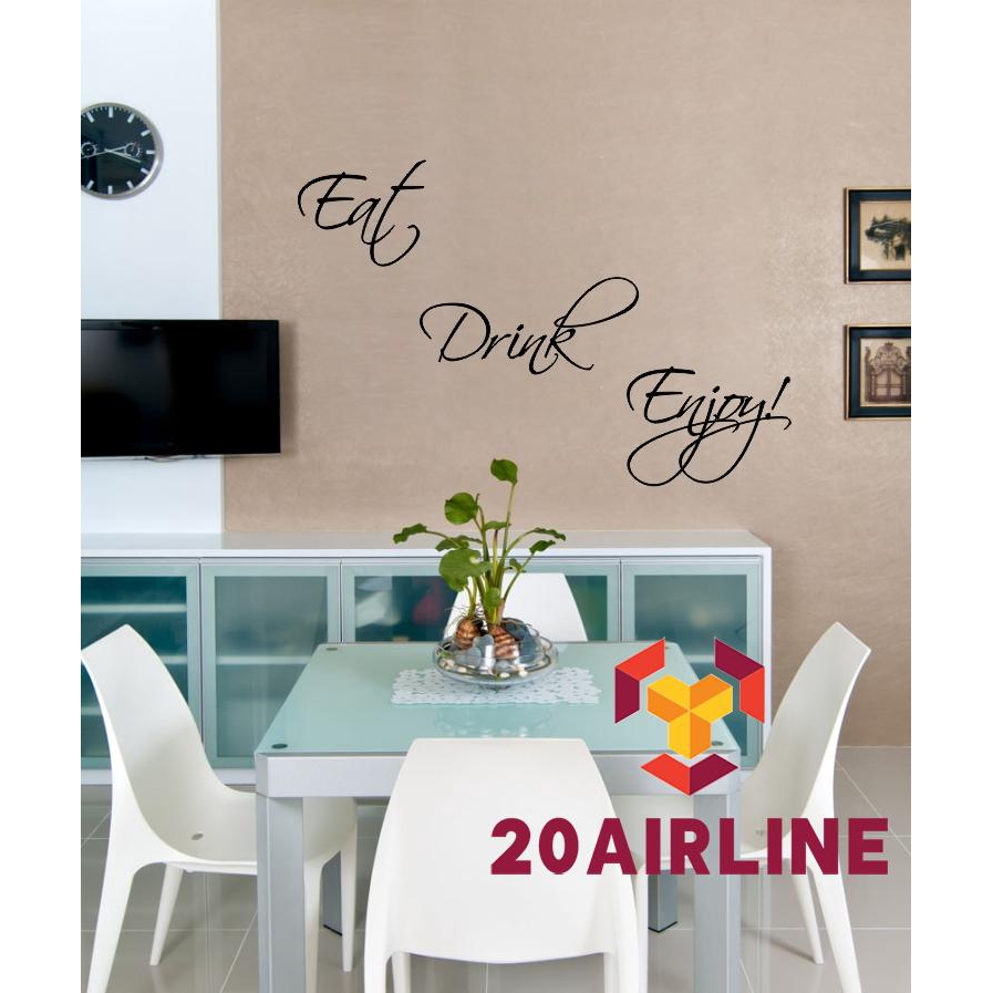 Enjoy Removable Art Quote Stickers Wall