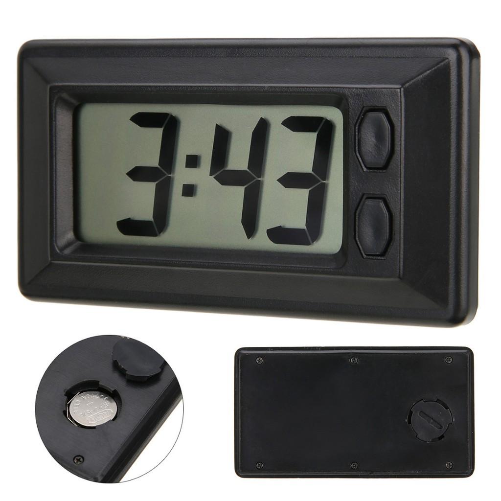 Auto Digital Car Dashboard LCD Clock Time Date Display Self-Adhesive Stick CL