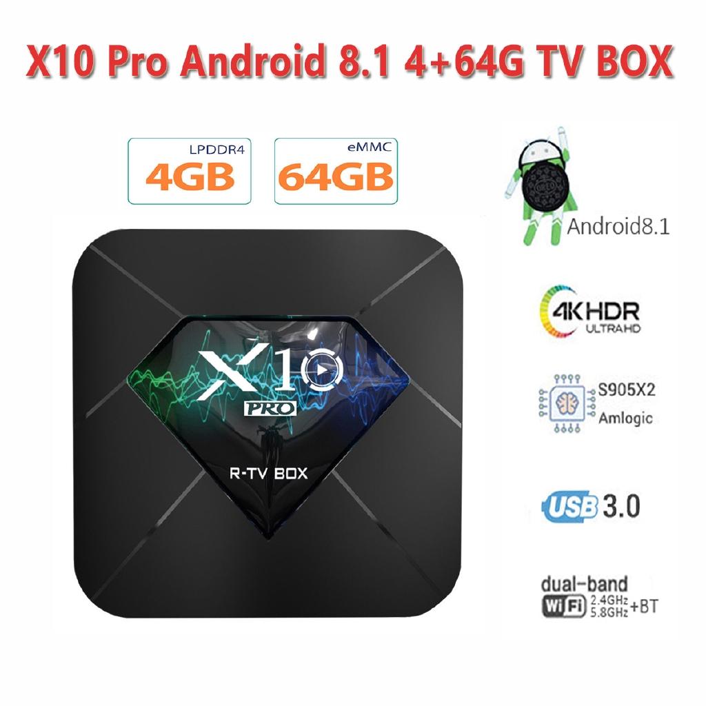 MX10PRO 2+16G Android 8.1.0 Oreo Quad core 4K Smart TV BOX 3D Media Player HDMI