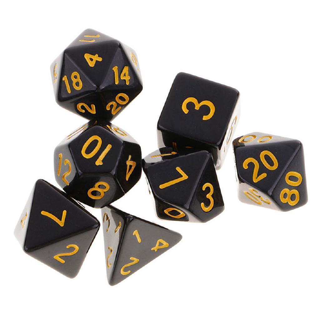 Bag 5 Set 35Pcs Acrylic Polyhedral Dice Set for Dungeons Dragons D20 D4 Games