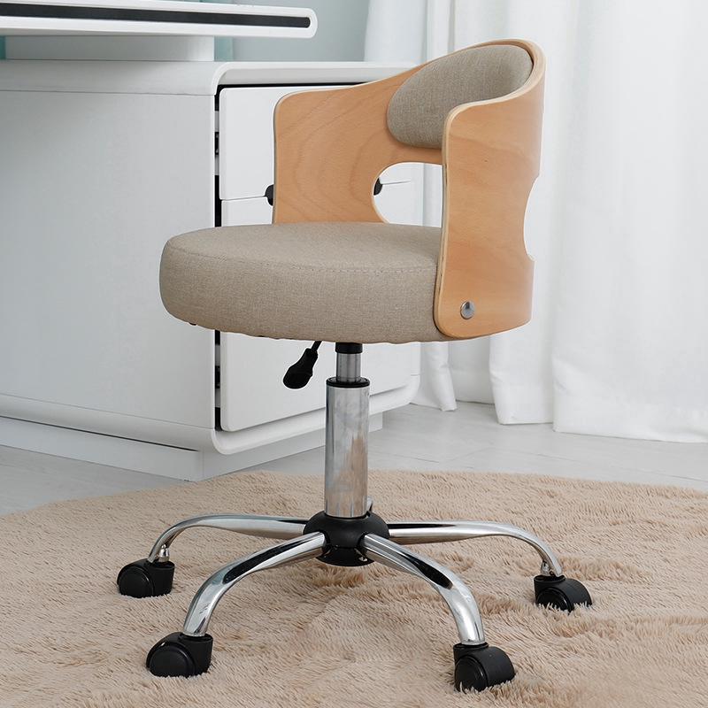 Solid Wood Office Chair Fashion Student Computer Chair Modern Minimalist Study Room Lift Swivel Chair Home Shopee Singapore