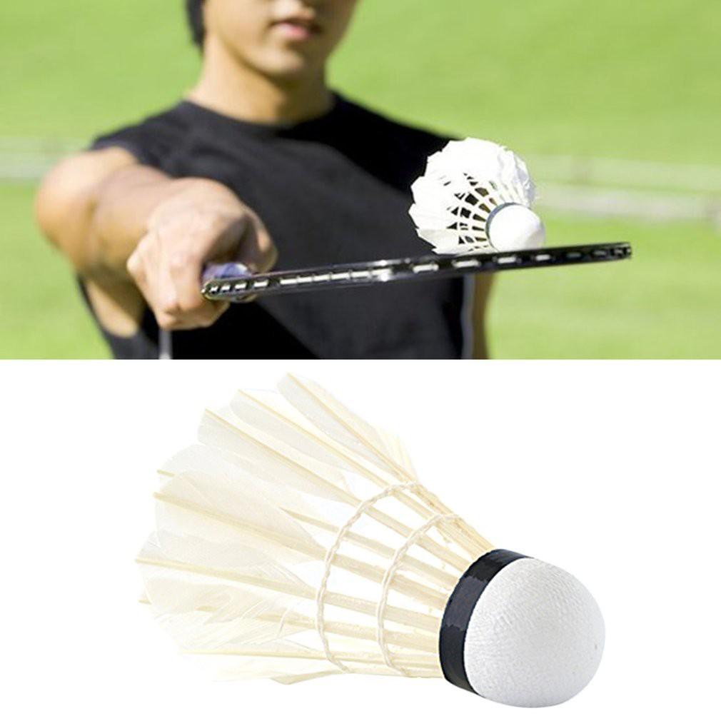 Aggressive 5pcs Game Sport Training White Duck Feather Shuttlecocks Birdies Badminton Ballj At All Costs Bälle Weitere Ballsportarten